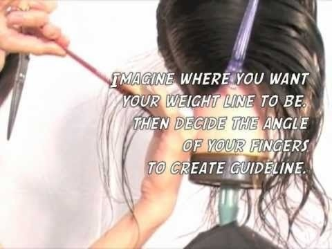 how to cut an a line bob step by step-2