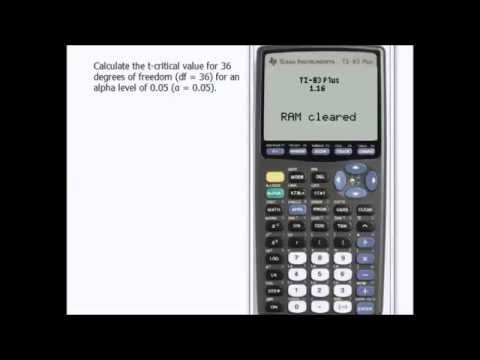 how to find t critical value on ti 84-1