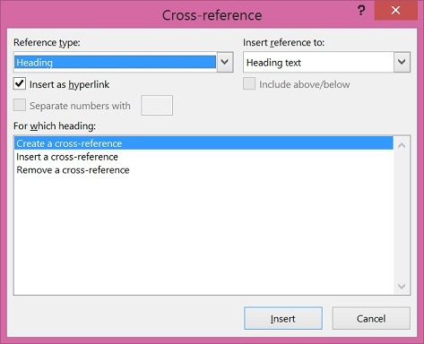 how to update cross references in word-0