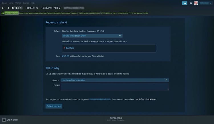 how to get a refund in steam-9