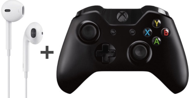 how to use apple headphones on xbox one to talk-0