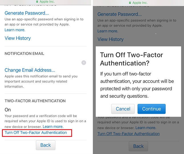how to turn off two step verification-5
